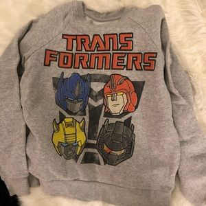 Sweaters - Transformers crew neck grey sweater